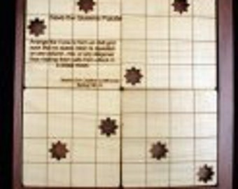 Save the Queen Wood Puzzle - Logic Puzzle - Chess Puzzle