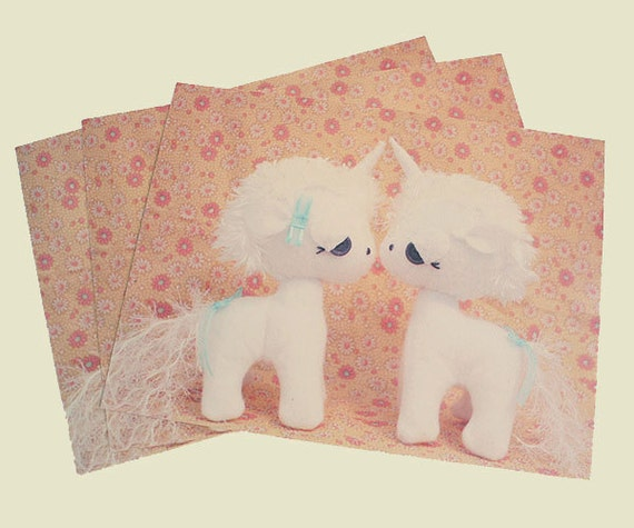 Unicorn Love Postcards Set of 3