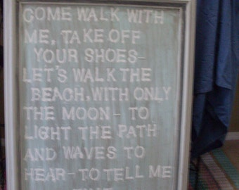 Walk with me... beach sign