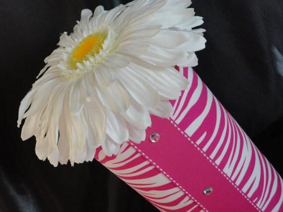 Hot Pink Zebra Headband Holder