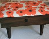 Upholstered Vintage Sewing Box