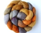 Hand Dyed Blue Faced Leicester Spinning Felting Fiber Top Roving