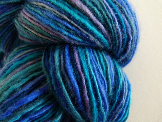 Handspun 100% Blue Faced Leicester Thick and Thin Yarn