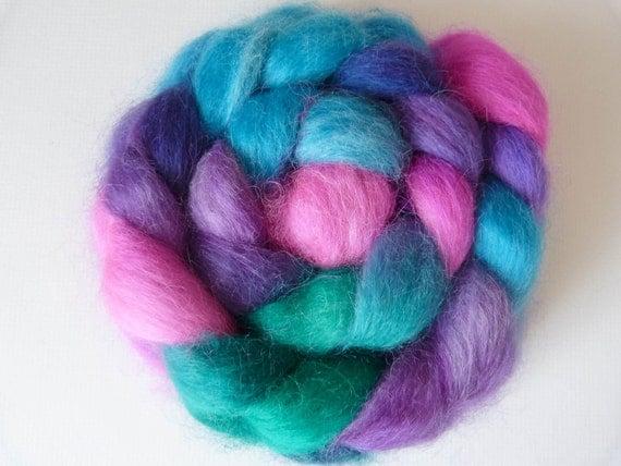 Hand Dyed Massam (Masham) Spinning Felting Fiber Top Roving
