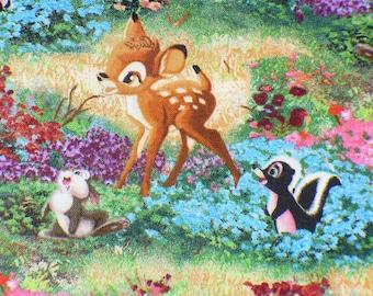 Bambi Fabric, Fat Quarter, Disney Bambi, Thomas Kinkade, Bambi Flower Thumper