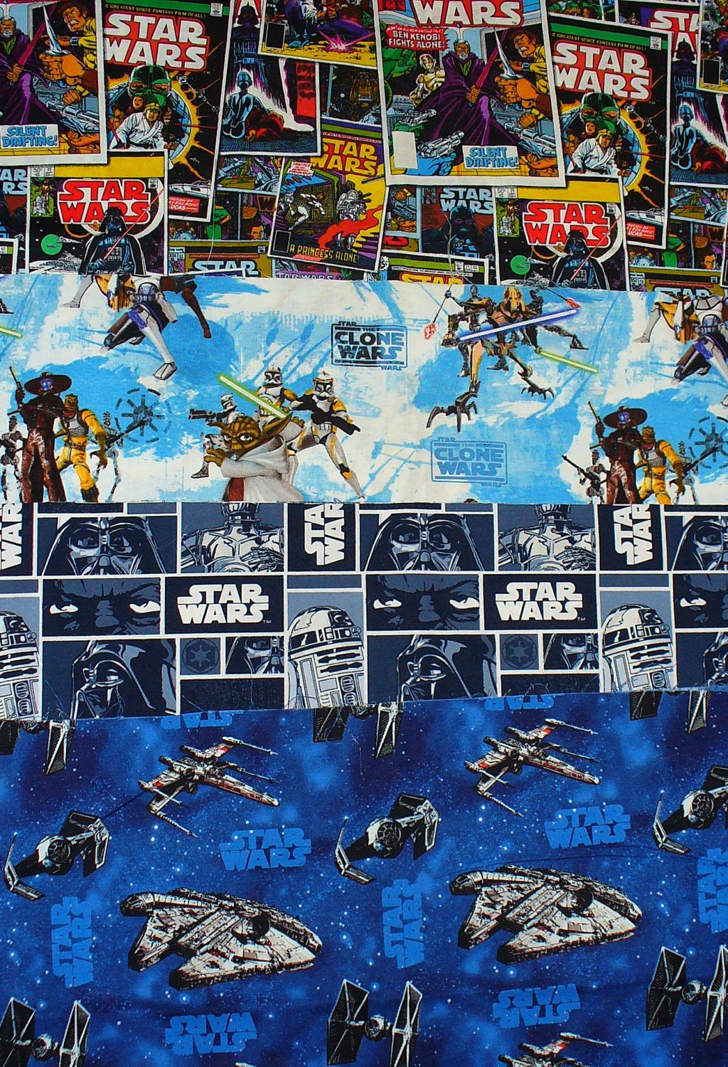 Fabric Book Covers Canada : Star wars fabric fat quarters block style