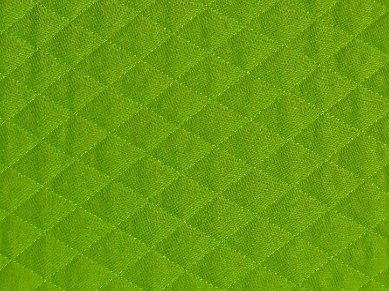 Lime Green Pre Quilted Fabric Double Sided Last Yard