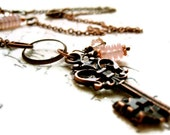 RESERVED for Ana. SALE was 29 Forest Fairy Necklace with magical key