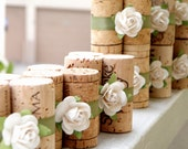 White & Sage, Wedding Place Card Holders Set of 10 Wine Corks for Wedding Reception or Bridal Shower