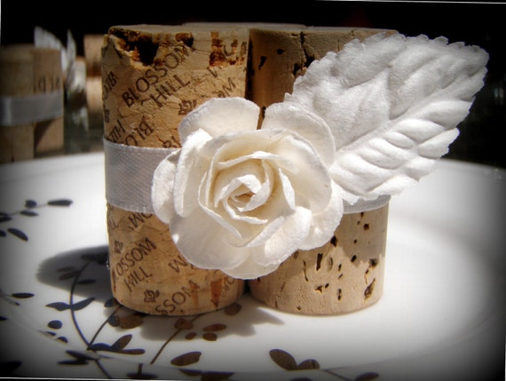 Reserved for Candice - White Angel Escort Card Holders, set of 25 2-Cork style w/ Magnets on back