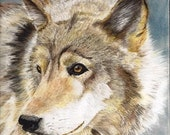 Wolf Painting Pastel