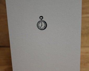 Vintage Stop Clock Card