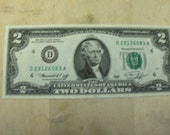 1976  Two Dollar 2.00  NOTE-Bill  Federal Reserve - Green Seal-Cleveland Ohio