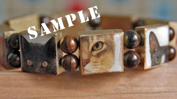 Personalized Scrabble Bracelet with Your Photos of Your Child, Pet, Other