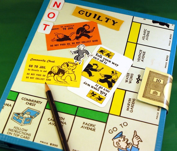 """Monopoly """"Go to Jail"""" Blank Journal with Replaceable Pages"""