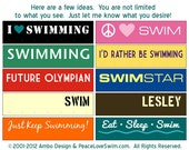 Custom Swimming Ribbon and Medal Display - Wood Wall Plaque