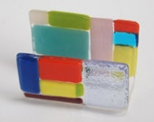 SALE !!!! 40% OFF !!!Business Card Stand handmade by dalit glass