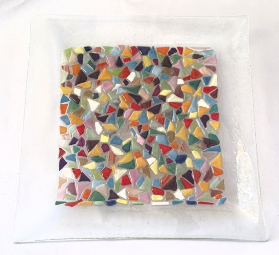 PASSOVER plate fused glass handmade by DALIT-GLASS dalitglass