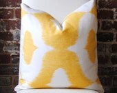 Dalesford - Duralee - Yellow -  20 in square - Designer Pillow - Decorative Pillow - Throw Pillow