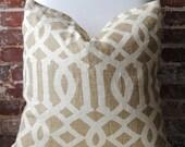 Imperial Trellis - Schumacher - Coffee - Pillow Cover - 20 in square - Designer Pillow - Decorative Pillow - Throw Pillow