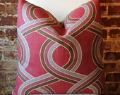 Blossom - Geometric - P Kaufman Fabric - Pillow Cover - 20 in square - Designer Pillow - Decorative Pillow - Throw Pillow