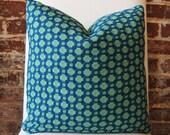 Betwixt - Schumacher - Peacock/Seaglass - Designer Pillow - Decorative Pillow - Throw Pillow