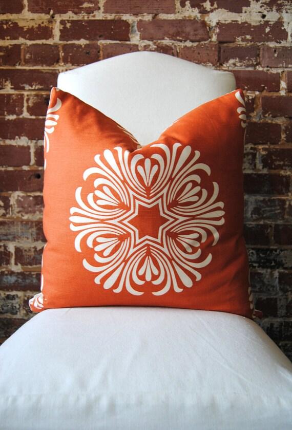 """Breckenridge in Orange by Duralee - Pillow- 20""""x20"""""""