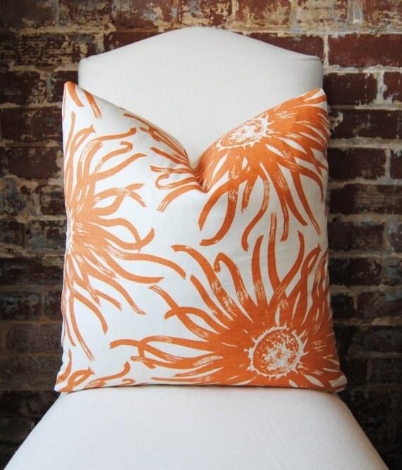 Duralee -  Miranda - Papaya -  20 in square - Designer Pillow - Decorative Pillow - Throw Pillow