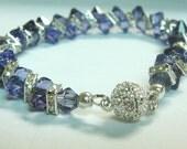 Swarovski Purple Crystal Bracelet - ZigZag Sparkle