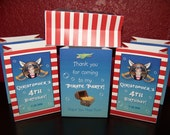 Photo Party Favor Bags - PIRATE THEMED