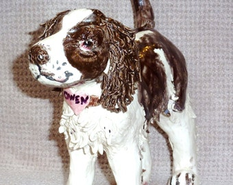 Custom Made Sculptor in USA of Your Loved Pet Made from clay and fired in a kiln Totally one of a kind Great Gift