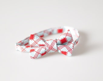 Baby Bowtie - Blue with Red Detail