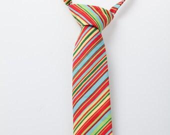 Little Boy Neck Tie - Multi-Colored Stripes