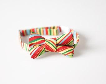 Boys Bowtie - Multi-Colored Stripes