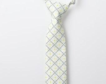 Little Boy Necktie - Light Blue with Black Detail