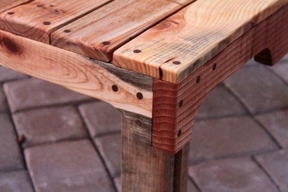 Mesa de café rústico upcycled acabado tarima de madera natural