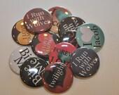 25 Twilight Flat Back Buttons