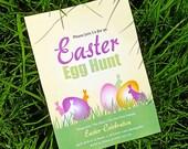 Printable Custom Easter Hunt Invitation