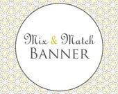 Printable Party Banner - Mix & Match