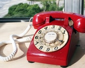 Working Condition Bell System Vintage Rotary Phone- Cherry Red