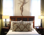 Antique Headboard with Ceiling Tin