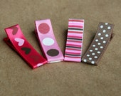 Baby Hair Clip Set for baby girl, infant hair clips, toddler, tween, teen, adult - Party Collection - Mini hair clippies 2 SIZES - Hearts