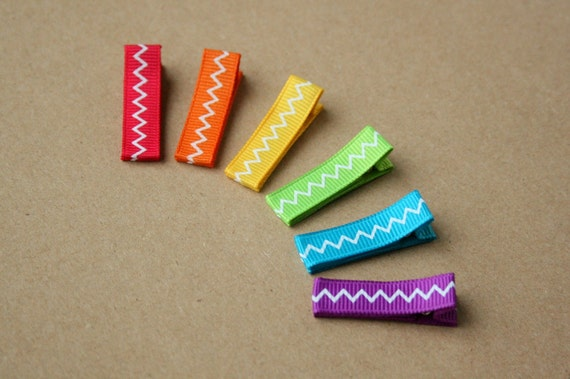 Mini Hair Clip Set for Baby, Baby Hair Clips, infant clips, toddler, tween, teen, adult - Tropical Hair Clippies - Party Favors - 2 SIZES