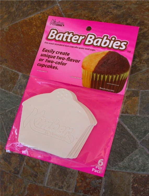 Batter Babies - easily create two-flavor/color cupcakes