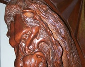 Lion Sculpture in Wood