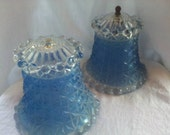 Vintage Candlewick Glass Lamps with Glass Shades