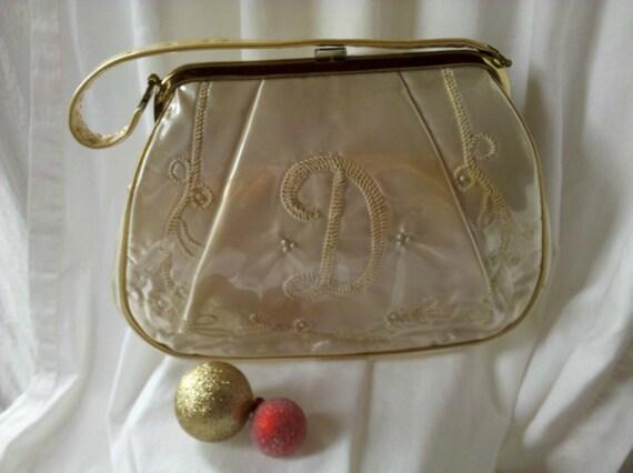 Vintage Wedding Bridal Satin Handbag