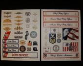 COAST GUARD Scrapbook Cardmaking Cutouts