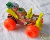 Fisherprice Jalopy clown pull toy car circus clown