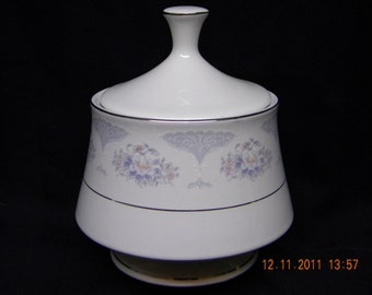 Sugar Dish Lynns china flowers gold trim